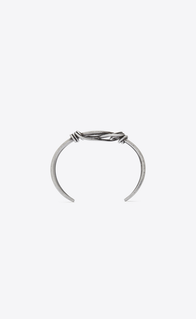 SAINT LAURENT Bracelets Man NŒUD bracelet in silver-toned brass b_V4