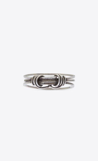 SAINT LAURENT Rings U NŒUD ring in silver-toned brass a_V4