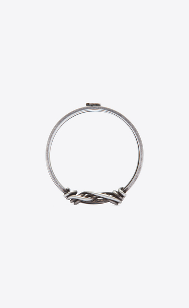 SAINT LAURENT Rings U NŒUD ring in silver-toned brass b_V4
