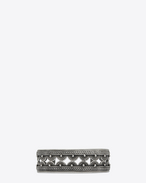 SAINT LAURENT Bracelets U MARRAKECH bangle bracelet in silver-toned brass f