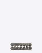 SAINT LAURENT Bracelets U シルバートーンブラスのマラケッシュバングルブレスレット f