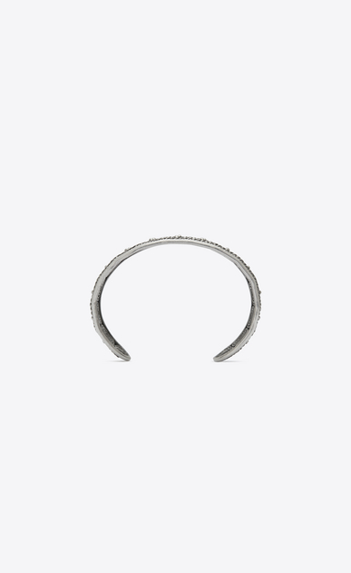 SAINT LAURENT Bracelets Man MARRAKECH bangle bracelet in silver-toned brass b_V4