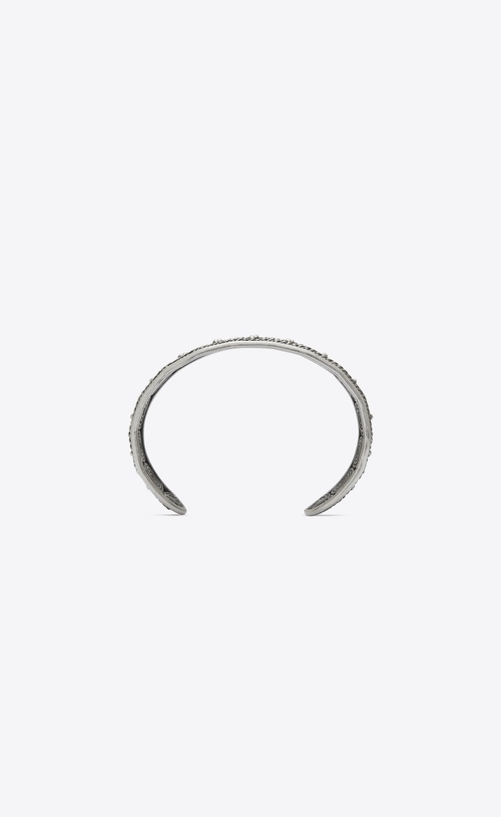 Zoom Marrakech Bangle Bracelet In Silver Toned Br Rear View
