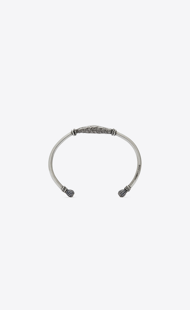 SAINT LAURENT Bracelets Man Enameled MARRAKECH Berber bangle bracelet in silver-toned brass a_V4