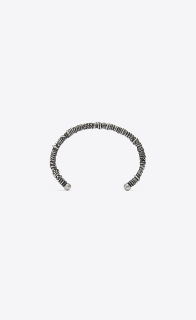 SAINT LAURENT Bracelets Man MARRAKECH Berber bangle bracelet in silver-toned brass a_V4