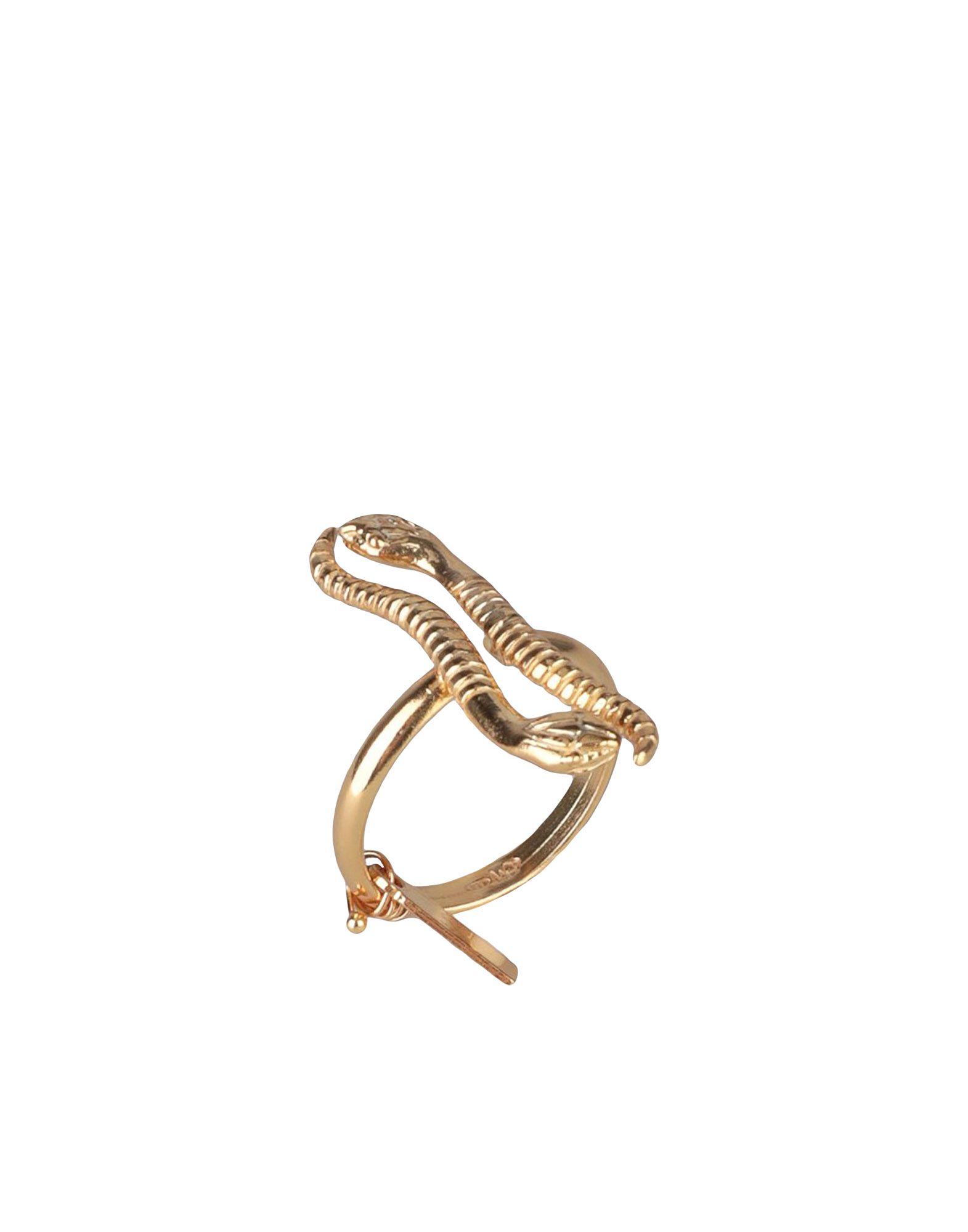 《期間限定セール開催中!》MARIA FRANCESCA PEPE レディース 指輪 ゴールド 7 シルバー925/1000 100% THE REBIRTH-OPEN BAND RING WITH SNAKES
