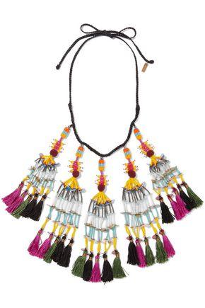ETRO Beaded tassel necklace