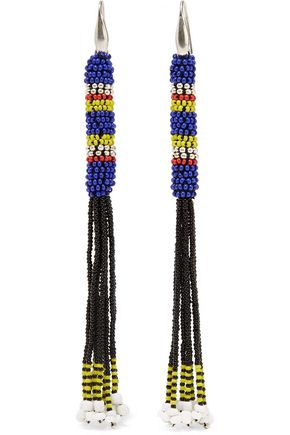 ISABEL MARANT Tassled beaded earrings