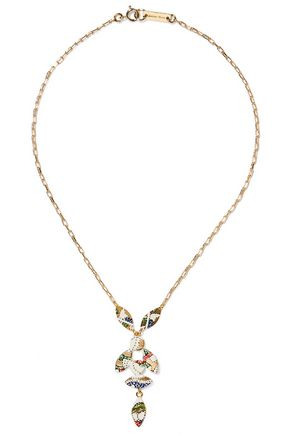 ISABEL MARANT Gold-tone resin necklace