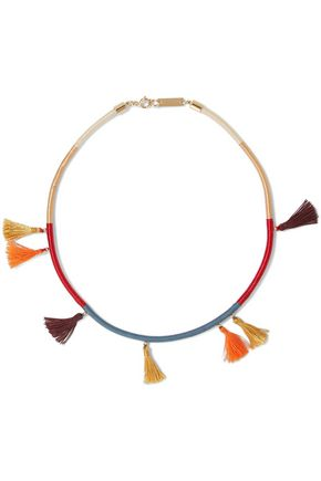 ISABEL MARANT Tasseled cotton choker