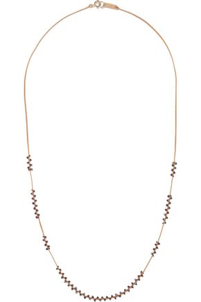 ISABEL MARANT Gold-tone, bead and cord necklace