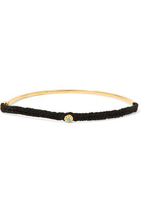 SCOSHA Night gold-tone turquoise choker