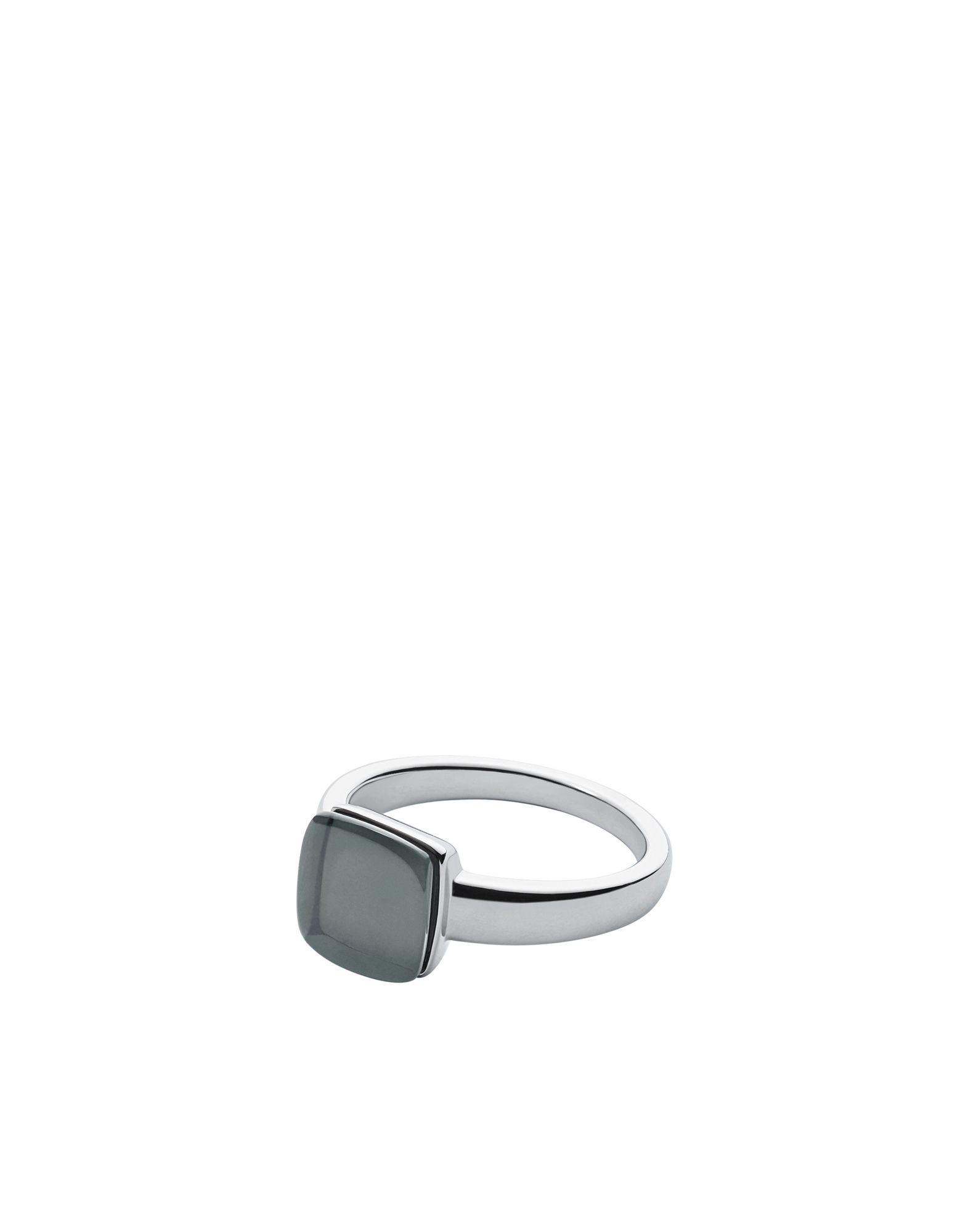 《送料無料》SKAGEN DENMARK レディース 指輪 ブルーグレー 10 ステンレススチール / ガラス SEA GLASS