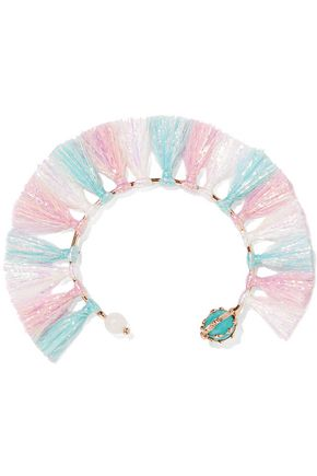 ROSANTICA Baby tinsel, turquoise and quartz bracelet