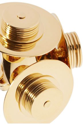 J.W.ANDERSON Satellite gold-plated clip earrings