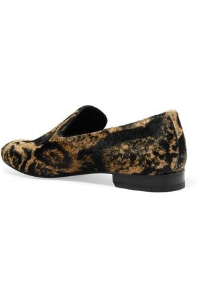 SERGIO ROSSI Printed calf hair loafers