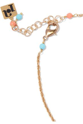 ROSANTICA Gold-tone charm and stone necklace