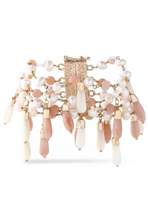 ROSANTICA Gold-tone, bead and faux pearl bracelet