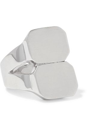 JENNIFER FISHER Double ID silver-plated ring