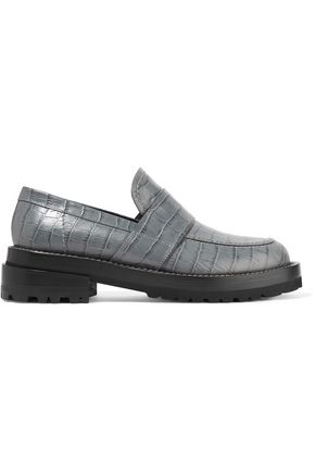 MARNI Croc-effect leather loafers