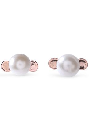 AAMAYA by PRIYANKA Rose gold-plated faux pearl earrings