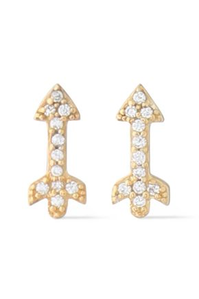 AAMAYA by PRIYANKA Gold-plated crystal earrings