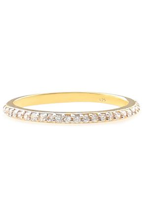 AAMAYA by PRIYANKA Gold-plated crystal ring