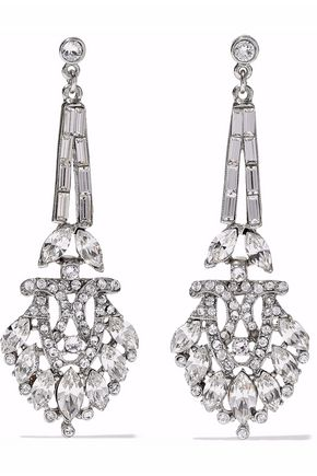 BEN-AMUN Silver-tone crystal earrings