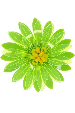 ISSA Dahlia neon acrylic flower brooch