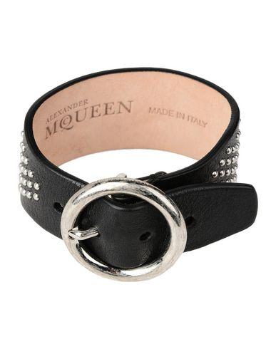 ALEXANDER MCQUEEN レディース ブレスレット ブラック 革