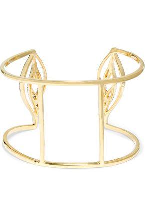 NOIR JEWELRY Aglaow gold-tone crystal bracelet
