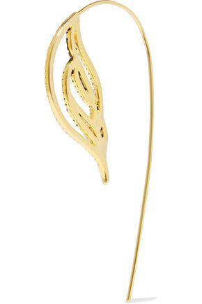 NOIR JEWELRY Ember 18-karat gold-plated crystal earrings