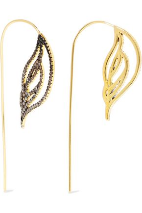 NOIR JEWELRY Ember 18-karat gold-plated crystal earrings