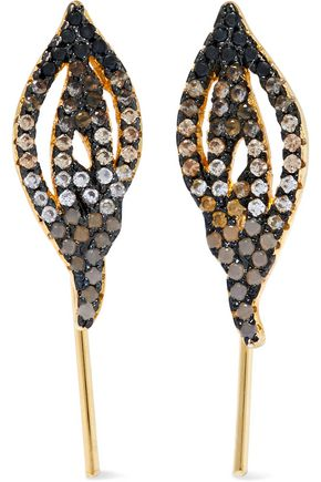 NOIR JEWELRY Gleam gold-tone crystal earrings