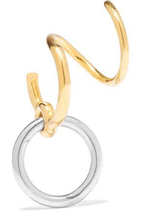 MARIA BLACK Saga Twirl silver and gold-tone earring