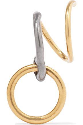 MARIA BLACK Saga Twirl gunmetal and gold-tone earcuff