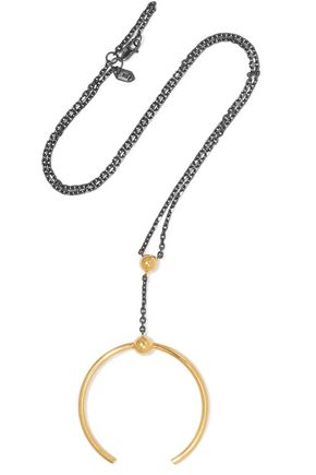 MARIA BLACK Phoenix gunmetal and gold-tone necklace