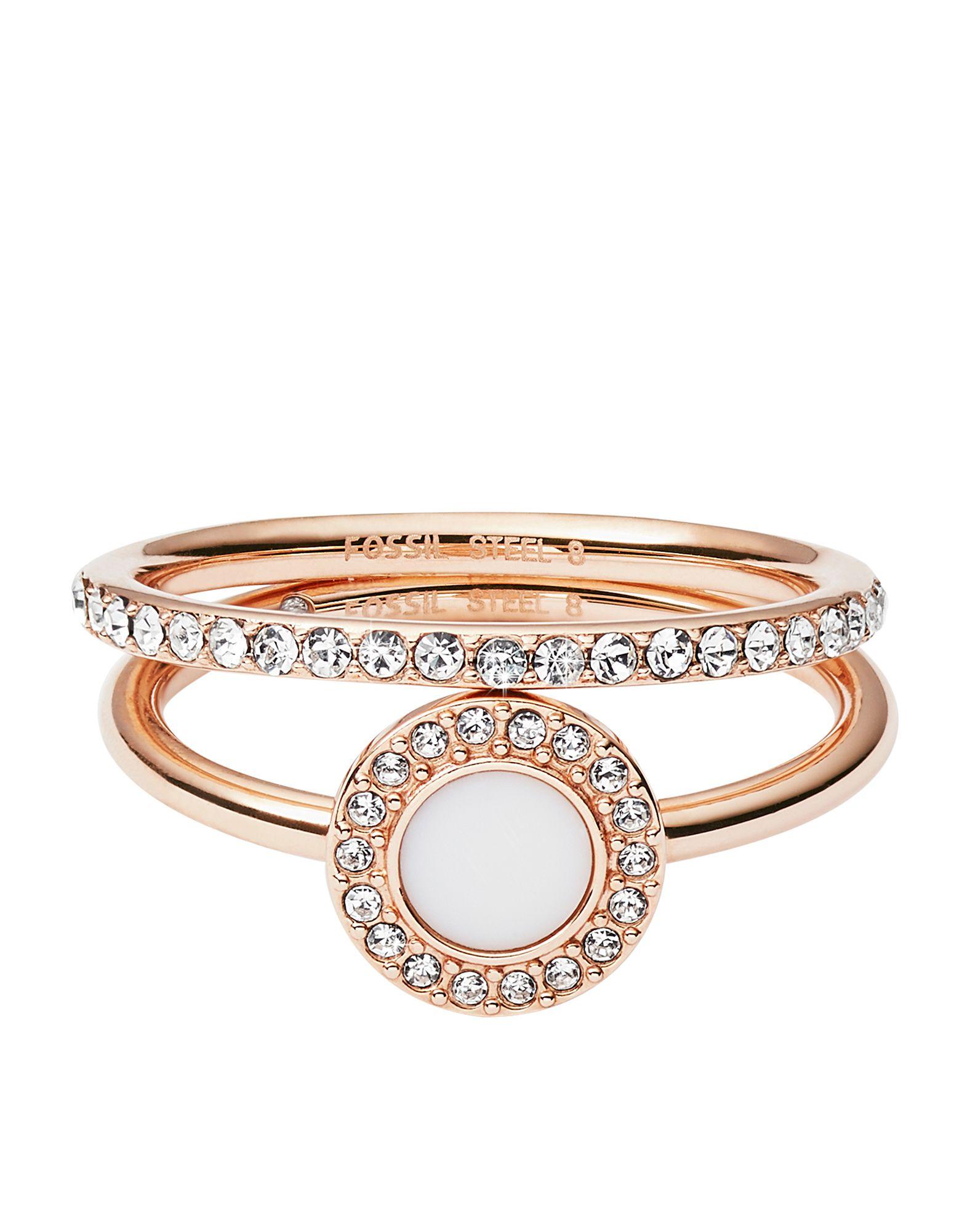 FOSSIL Damen Ring Farbe Kupfer Größe 15