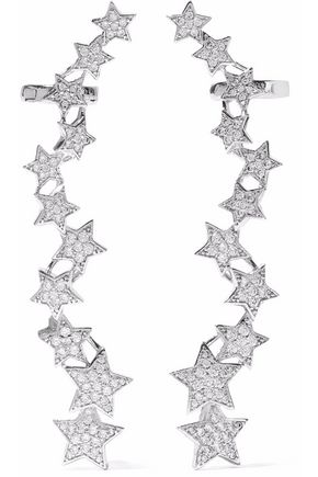 KENNETH JAY LANE Silver-tone crystal ear cuff