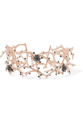 NOIR JEWELRY Bewitching crystal-embellished rose gold-tone bracelet