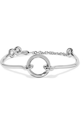 EDDIE BORGO O-Ring Chain rhodium-plated choker