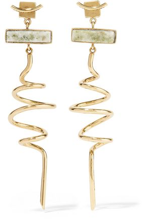CORNELIA WEBB Gold-plated marble earrings
