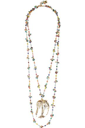 ROSANTICA Rosarietto Amore gold-tone beaded necklace