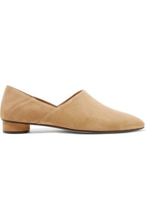 THE ROW Noelle collapsible-heel suede loafers