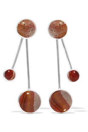 PAMELA LOVE Large Satellite silver jasper earrings