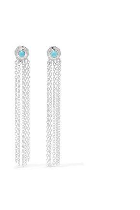 SCOSHA Wondersun Shower silver turquoise earrings