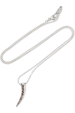 CHAN LUU Silver crystal necklace