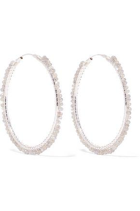 CHAN LUU Silver labradorite earrings