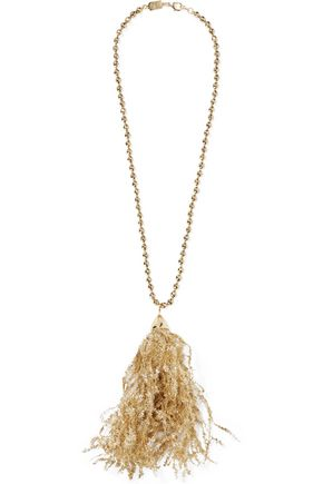 ROSANTICA Pop gold-tone tinsel necklace