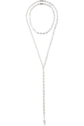 NOIR JEWELRY Walzin set of two silver-tone crystal necklaces